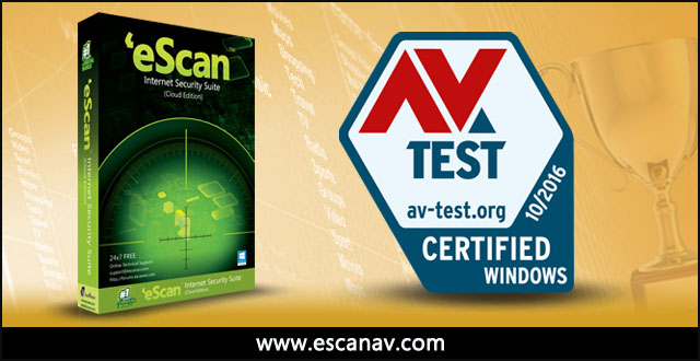 AV-TEST Certifies eScan Internet Security Suite for its Robustness
